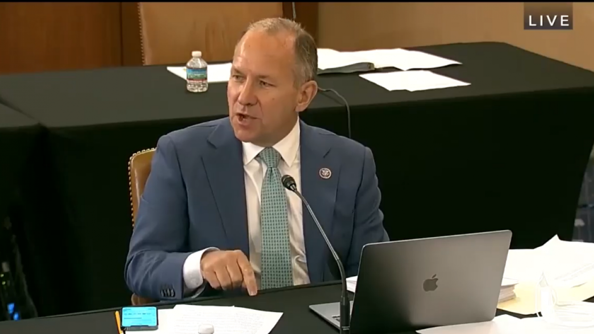 Rep. Smucker during Ways and Means hearing