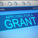 Computer screen applying for a Grant